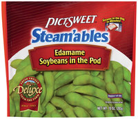 STEAM'ABLES DELUXE Soybeans In The Pod Edamame 10 OZ STAND UP BAG
