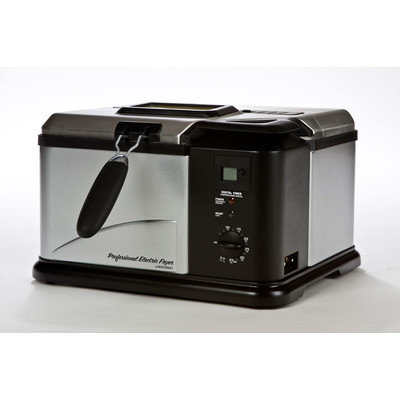 Masterbuilt - 1 gal Indoor Electric Fish Fryer - Black/Silver