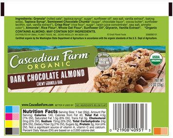 Cascadian Farm™ Organic Dark Chocolate Almond Chewy Granola Bar 1.2 oz. Wrapper
