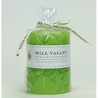 Mill Valley Candleworks Green Pear Scented Pillar Candle Size: 6