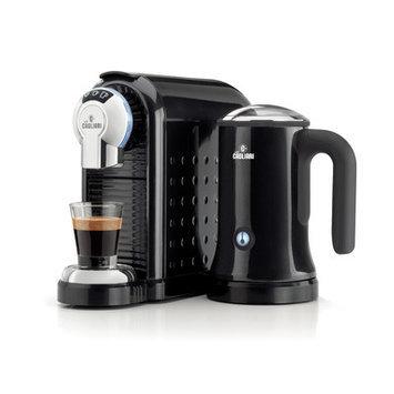 Caffe Cagliari Carnia Machine with Milk Frother Color: Black