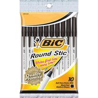 BIC 10 Count Round Stick Ballpoint Pen in Black