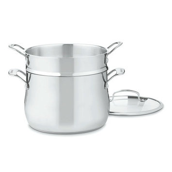 Cuisinart Contour Stainless 6qt 3pc Pasta Pot w/ Cover