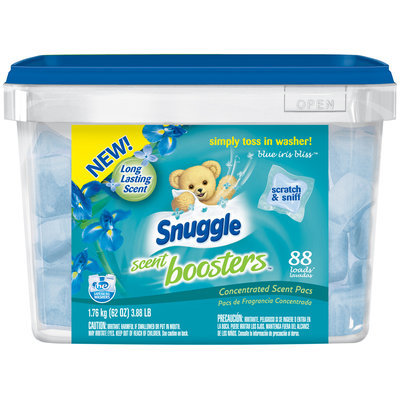Snuggle Scent Boosters™ Blue Iris Bliss™ Concentrated Scent Fabric Softener Pacs 3.88 lb Tub