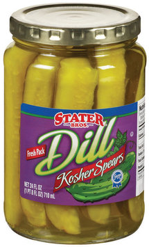 Stater Bros. Kosher Dill Spears Pickles 24 Fl Oz Jar