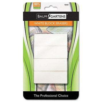 BAUMGARTENS Block Eraser, 4/Pack