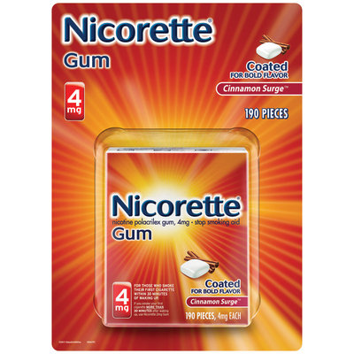 Nicorette® Cinnamon Surge™ Stop Smoking Gum 4mg 190 ct Box