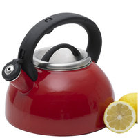 Creative Home Rio 11-Cup Tea Kettle with Stainless Steel in Red Enamel 77043