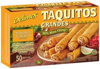 Delimex Seasoned Chicken 50 Ct Taquitos Grandes 60 Oz Box