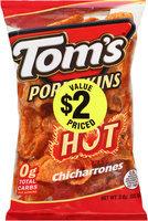 Tom's® Pork Skins Hot Flavored Chicharrones 3 oz. Bag