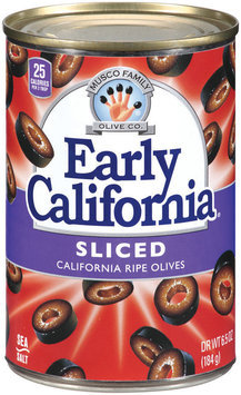 EARLY CALIFORNIA Sliced California Ripe Olives 6.5 OZ CAN