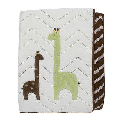 Lambs & Ivy Giraffe Reversible Coverlet