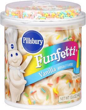 Pillsbury Funfetti® Vanilla Frosting 15.6 oz. Canister