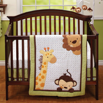 Little Bedding by NoJo - Jungle Pals 4-Piece Crib Bedding Set