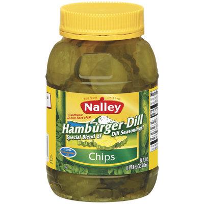 Nalley Hamburger Dill Chips Pickles 24 Oz Jar