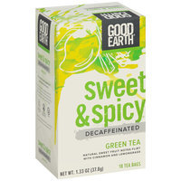 Good Earth® Sweet & Spicy® Decaffeinated Green Tea 1.33 oz. Box