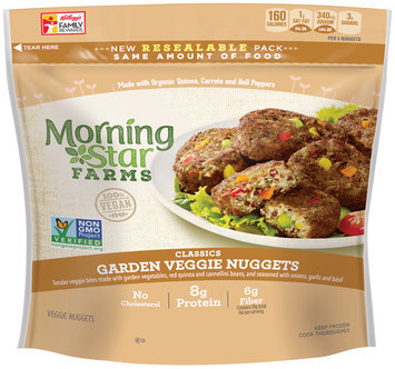 Morning Star Farms® Classic Garden Veggie Nuggets 7.9 oz. Bag