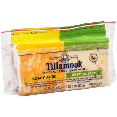 Tillamook® Colby Jack & Pepper Jack Deli Cheese Slices 2 lb. Pouch
