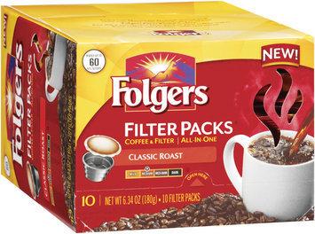 FOLGERS Classic Roast Medium Coffee Filter Packs 10 CT BOX