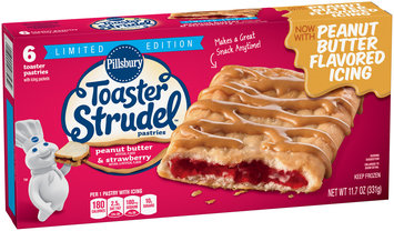 Pillsbury Toaster Strudel™ Peanut Butter & Strawberry Toaster Pastries 6 ct Box
