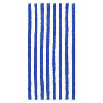 Crover Cabana Stripe Beach Towel Color: Royal Blue
