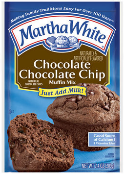 Martha White Chocolate Chocolate Chip Muffin Mix 7.4 Oz Packet