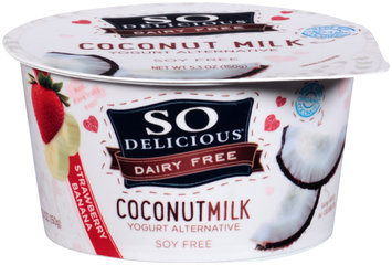 So Delicious® Dairy Free Coconut Milk Strawberry Banana Yogurt Alternative 5.3 oz. Tub