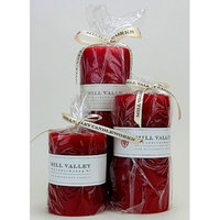Mill Valley Candleworks 3 Piece Red Currant Scented Pillar Candle Set Size: 4