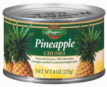 Haggen Chunks Pineapple 8 Oz Can