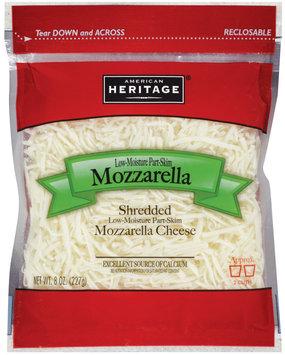 American Heritage® Shredded Low-Moisture Part-Skim Mozzarella Cheese  8 oz.