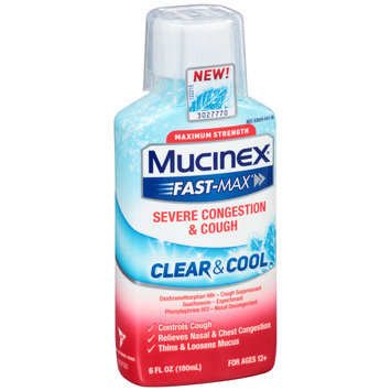 Mucinex® Fast-Max® Clear & Cool™ Maximum Strength Severe Congestion & Cough