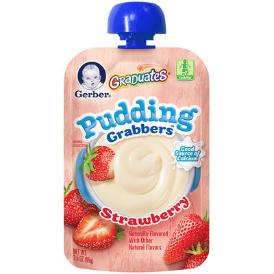 Gerber® Graduates® Strawberry Pudding Grabbers®  3.5 oz. Pouch