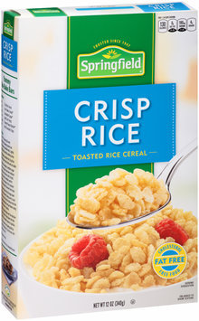 Springfield® Crisp Rice Toasted Rice Cereal 12 oz. Box
