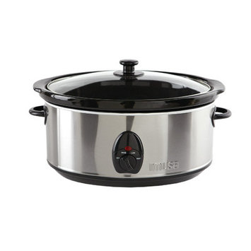 Imusa 3.7 Quart Stainless Steel Slow Cooker