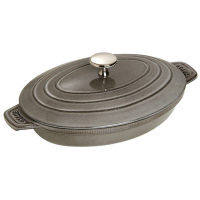 STAUB 1332318 Oval Plate with Lid, 9