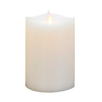Boston Warehouse 92146 Mystique 360 Degree 5 in. Gray Flameless Pillar Candle