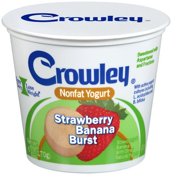 Crowley® Strawberry Banana Burst Nonfat Yogurt 6 oz. Cup