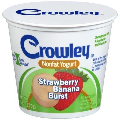 Crowley® Strawberry Banana Burst Nonfat Yogurt 6 oz. Cup