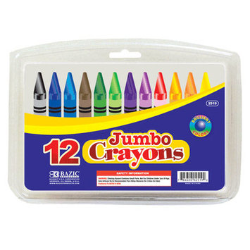 Bazic 251912 12 Color Premium Quality Jumbo Crayon Pack of 12