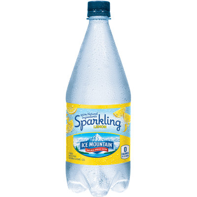 ICE MOUNTAIN Brand Sparkling Natural Spring Water, Lemon 33.8-ounce plastic bottle