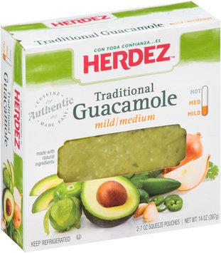 Herdez® Traditional Mild/Medium Guacamole 2-7 oz Squeeze Pouches