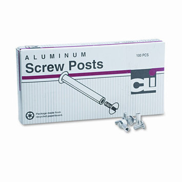 Charles Leonard Co. LEO3703L Screw Posts- .19in. Diameter- .50in. Long- Aluminum