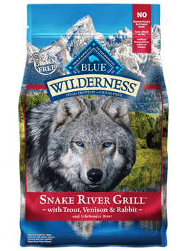 THE BLUE BUFFALO CO. BLUE™ Wilderness® Snake River Grill™ with Trout, Venison & Rabbit Grain-Free Dry Dog Food