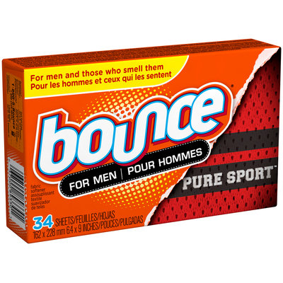 Bounce Pure Sport Dryer Sheets For Men 34 Count