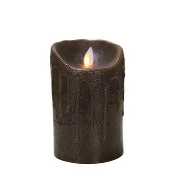 Boston Warehouse 78018 Mystique 5 in. Primitive Walnut Flameless Pillar Candle
