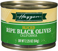 Haggen® Sliced Ripe Black California Olives 2.25 oz. Can