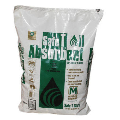 SAFE T SORB Clay Absorbent, 40 lbs, Poly-Bag (Set of 50)