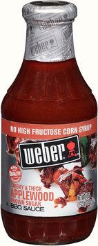 Weber® Smoky & Thick Applewood Brown Sugar BBQ Sauce 18 oz. Bottle
