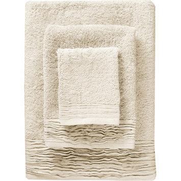 Nine Space Turkish Cotton Designer 3 Piece Towel Set Color: Ivory