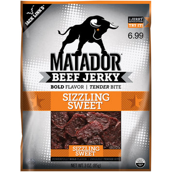 Matador® Sizzling Sweet Beef Jerky $6.99 Prepriced 3 oz. Bag